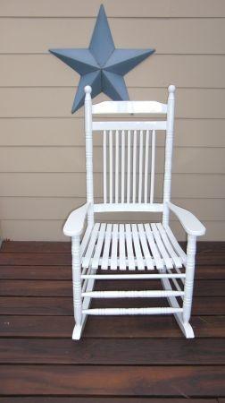 Philadelphia: Hard Wood Oversized Porch Rocking Chair / Rocker  $45 - http://furnishlyst.com/listings/655631