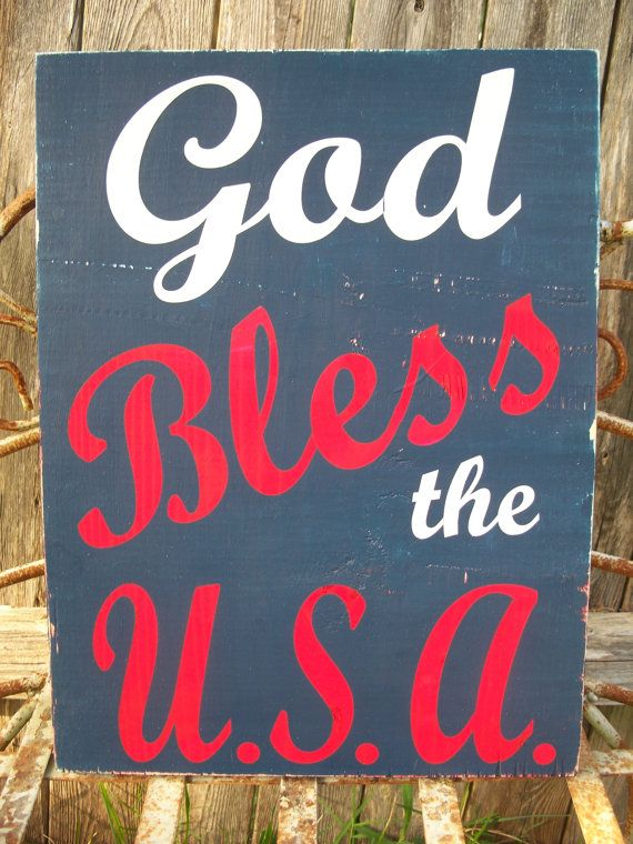 GOD Bless the USA - patriotic sign,July 4th, independence day, 4th of July sign, america sign, red white blue sign