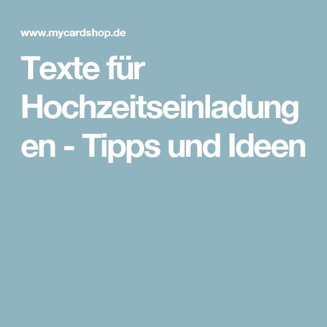 Texte für Hochzeitseinladungen - Tipps und Ideen