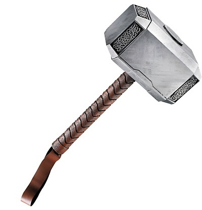 Help your little demigod channel the might of Mjolnir with this action-packed Thor Hammer.