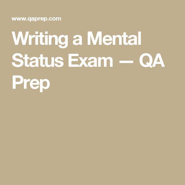 Two Sample Mental Status Examination Reports