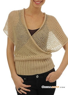 Breezy knit wrap sweater