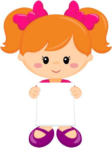 Girl w/pink hair bows
