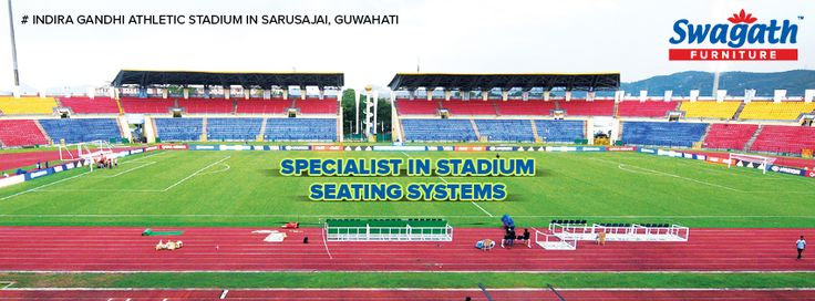 Check out another great example of the stadium seating systems at Indira Gandhi Athletic Stadium SarusaJai, Guwahati!!