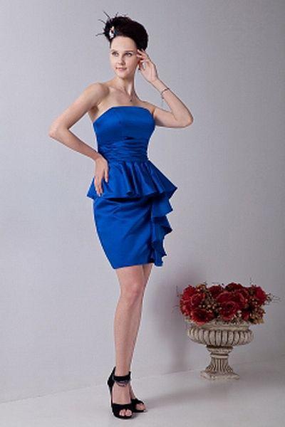 Weekly Special Product: Satin Bleu Robes De Soirée Une Ligne- rpc0846 - Order Link: http://www.robespaschers.com/satin-bleu-robes-de-soiree-une-ligne-rpc0846.html - Couleur: Blue; Silhouette: Une Ligne-, Décolleté: Bretelles; Embellissements: Ruché; Tissu: Satin - Price: 164