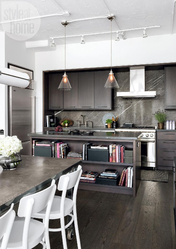 Loft Tour: Cooking Space With Contrasting Elements {PHOTO: Donna Griffith} Home Design Ideas