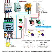 Esquemas eléctricos: Motor bomba trifásico marcha paro. Apagado nivel m...