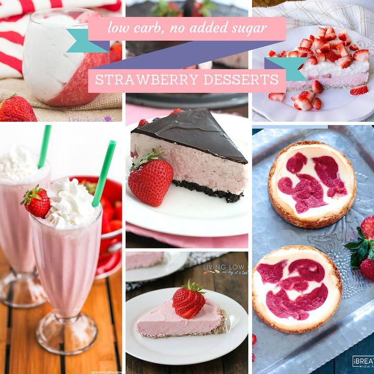 20 low carb, gluten free, sugar free strawberry desserts