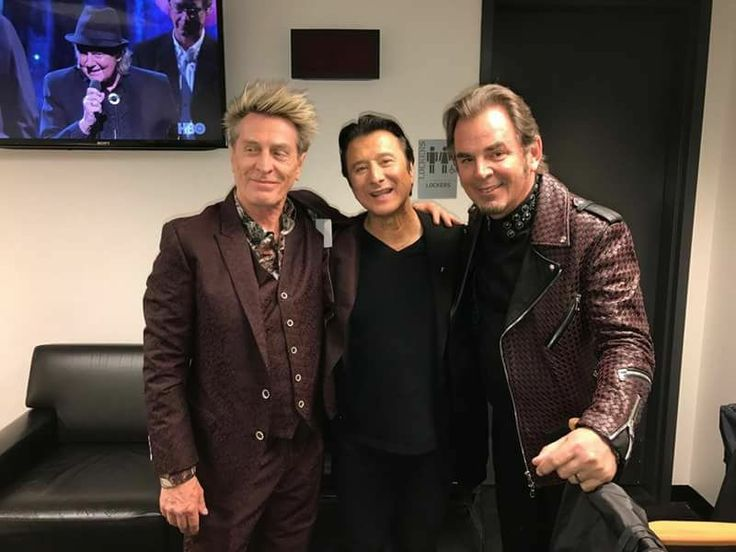 From left: Ross Valory, Steve Perry, and Jonathan Cain of Journey at the Rock and Roll Hall of Fame Induction Class of 2017.