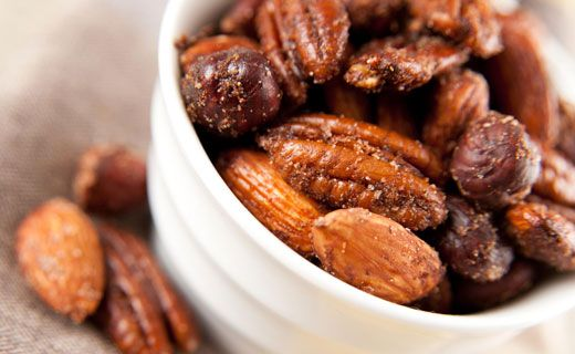 Jamaican Jerk Pecans - 1 1/2 T sugar, 1 T Jerk Seasoning, 1/2 tsp pumpkin pie spice, 3 T butter, 4 cups pecans.  Preheat oven to 350F.  Mix sugar, jerk seasoning and pumpkin pie spice.  Melt butter in a fry pan and add pecans, tossing well to coat.  Sprinkle with sugar and spice mixture.  Spread on a parchment lined baking sheet, bake 8-10 minutes until lightly toasted.  Let cool and then store in airtight container.  1 net carb per Tbsp.