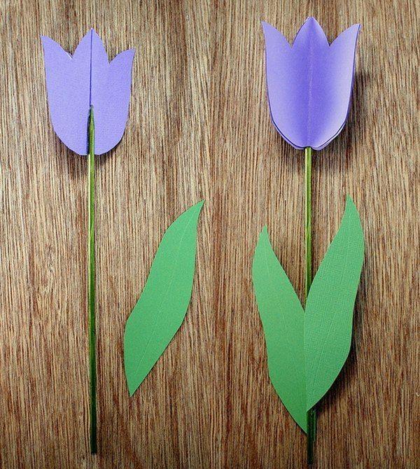 Hier erkennne Sie, wie kann man ganz einfach solche wunderschöne Tulpen aus Papier selber machen. Das können Sie unter 5 Minuten schaffen!
