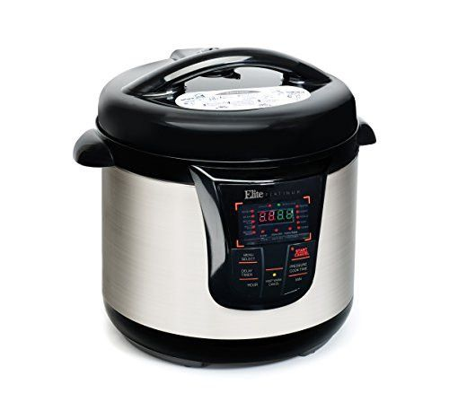 Elite Platinum EPC-808 Maxi-Matic 8 Quart Electric Pressure Cooker, Black (Stainless Steel)