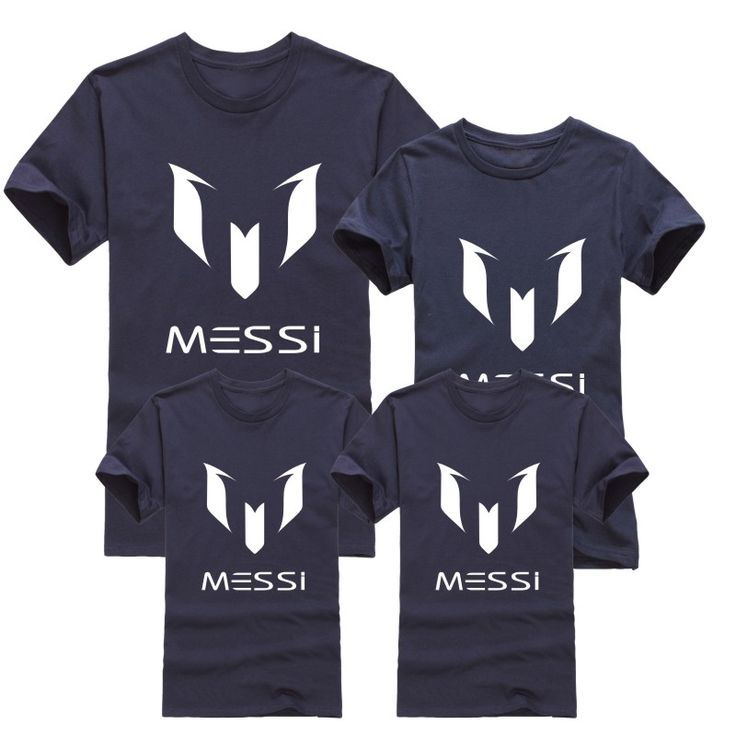 12 color brand 100% cotton Barcelona MESSI Soccer Family Matching Outfits Short-sleeved fashion boys girls child  family T-shirt