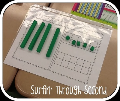 Double Digit Regrouping and great idea for writing down the steps in student journals