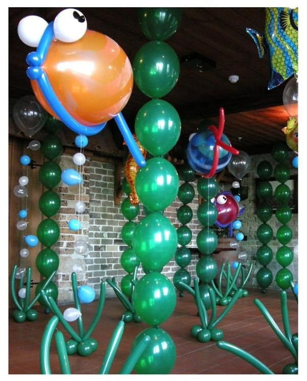underwater theme | fishy fishy balloon decorations <3