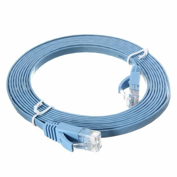 3M RJ45 Flat CAT-6 Ethernet Internet Network LAN Cable Patch Lead For PC Router