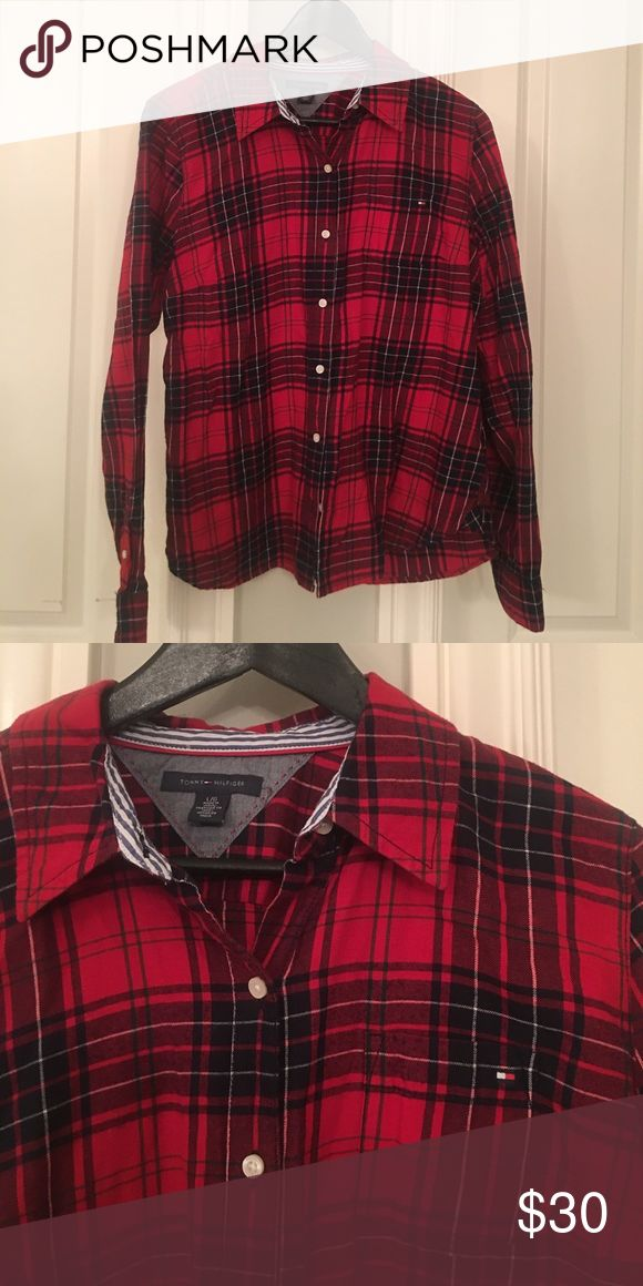 Flannel top For sale in excellent condition Tommy Hilfiger top Tommy Hilfiger Tops