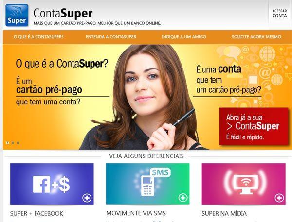 Cartão pré-pago conta super   Cartão Pré-Pago Internacional