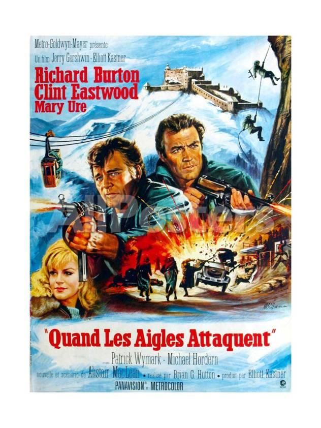 Where Eagles Dare From Left Mary Ure Richard Burton Clint Eastwood 1968 Giclee Print Allposters Com Where Eagles Dare Clint Eastwood Clint