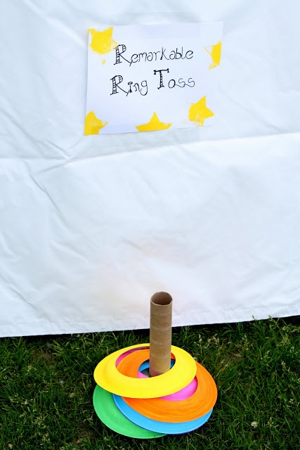 GAME: Field Day Activities..um painted paper plates and a paper towel roll Woot Woot!