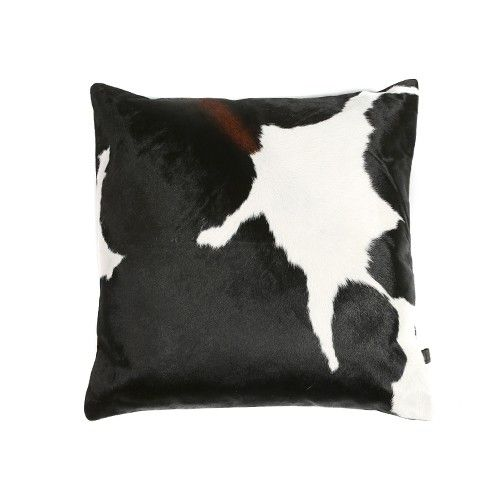 Zulucow Nguni cowhide cushions suede tricolour black and white brown scatter…