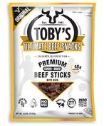 Toby's Bite Size - Beef Sticks, the Ultimate Paleo snack.