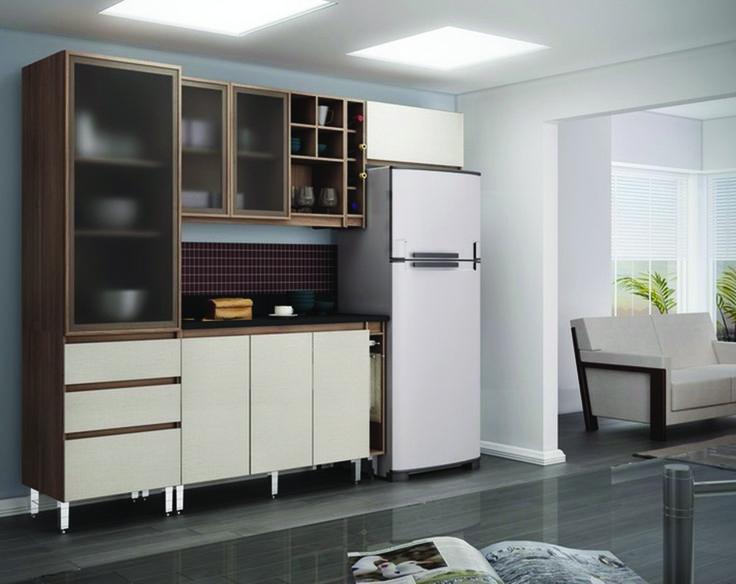 REF: Dit-KIt de cozinha ref madri 10 cor Noce Madri/branco/noce madri