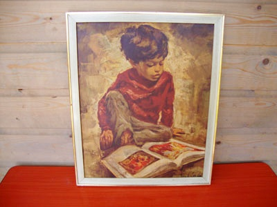 Oud schilderij ingelijst uit de jaren 60 http://hetleukstevan.nl/winkel/oude-print-ingelijst-uit-de-jaren-60/
