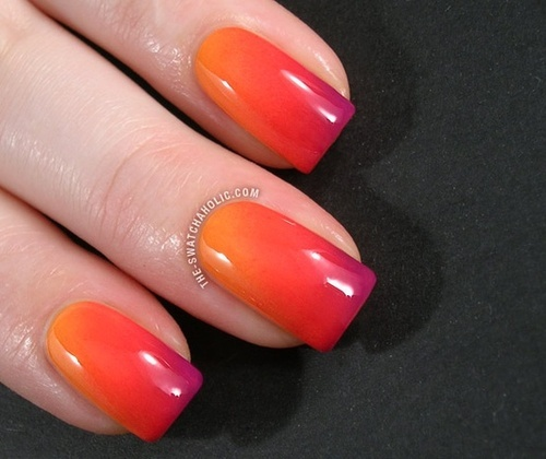 looks like fiyaaa! P Gradient nails, Nails, Ombre nails