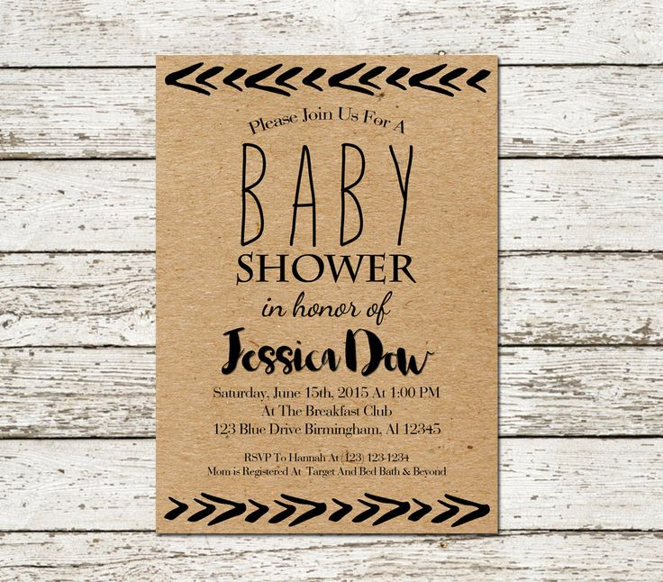 254 best images about boho/floral/dream catcher baby shower on, Baby shower invitations