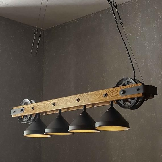 The Pacifica – Bar Chandelier – Modern Rustic Lighting – Kitchen Island Dining Table Hanging Chandel