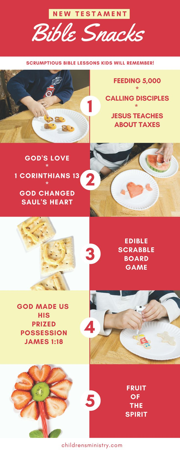 Great snacks to help kids remember Bible lessons