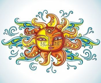 azteco: Simbolo del sole.  Vettoriali