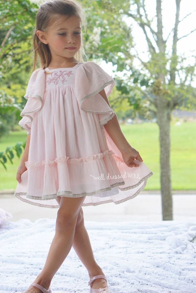 """Well Dressed Wolf NWT """"Ana"""" Pink Sun Dress with Bloomers Size 24 Month Sold Out! #WellDressedWold #DressyCasualParty"""