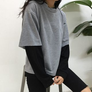 Buy Melon Juice Mock Two-Piece Pullover