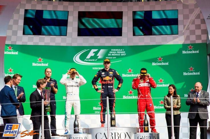 Kimi Räikkönen, Valtteri Bottas, Max Verstappen, Red Bull, Mercedes AMG, Formule 1 Grand Prix van Mexico 2017, Formule 1