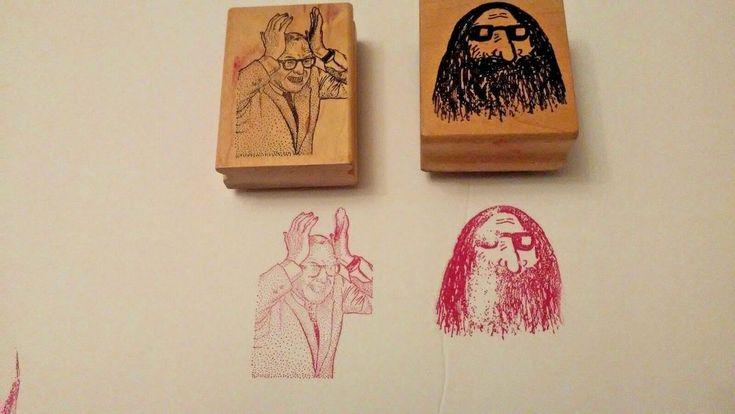 2 Rubber Stamps Ken Brown,  Jim Stephan's Hairy Man Old Man Crafts Letter Art    eBay