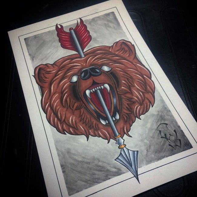 120 Fabulous Bear Tattoo Designs And Meanings nice