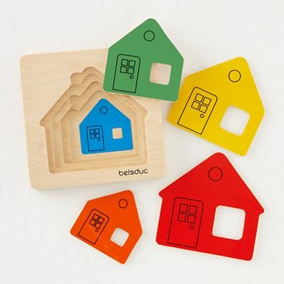 Kids Puzzle Games: Kids Layering House Puzzle Game in Stocking Stuffers