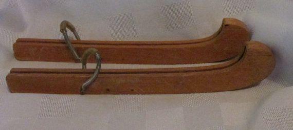 Vintage Wooden 1930/1940's Ice Skate Blade Guards by KlinknKlunk, $22.75
