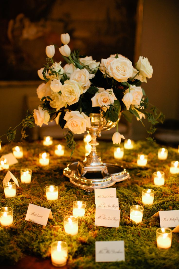 Elegant Escort Card Table | photography by http://www.kristynhogan.com/