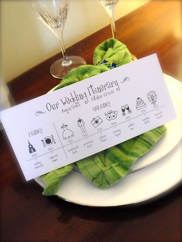 Printable Wedding Timeline -- Wedding Schedule -- Pomp Designs. $24.99, via Etsy.