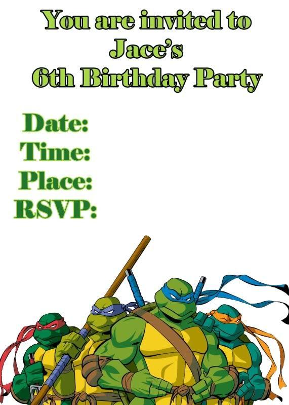72 best Teenage Mutant Ninja Turtle invitations images on – Printable Ninja Turtle Birthday Invitations