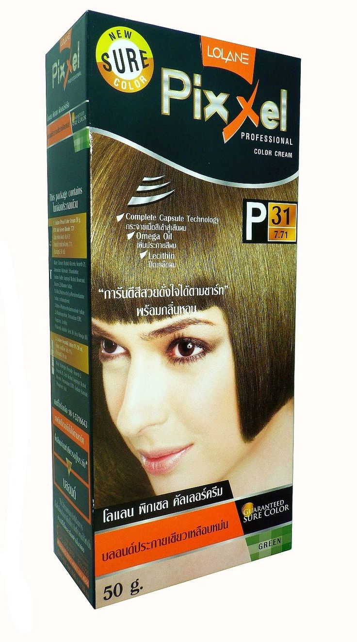 Straight perm and dying hair - Lolane Pixxel Professional Color Cream P31 Ash Green Blonde Permanent Hair Color Dye