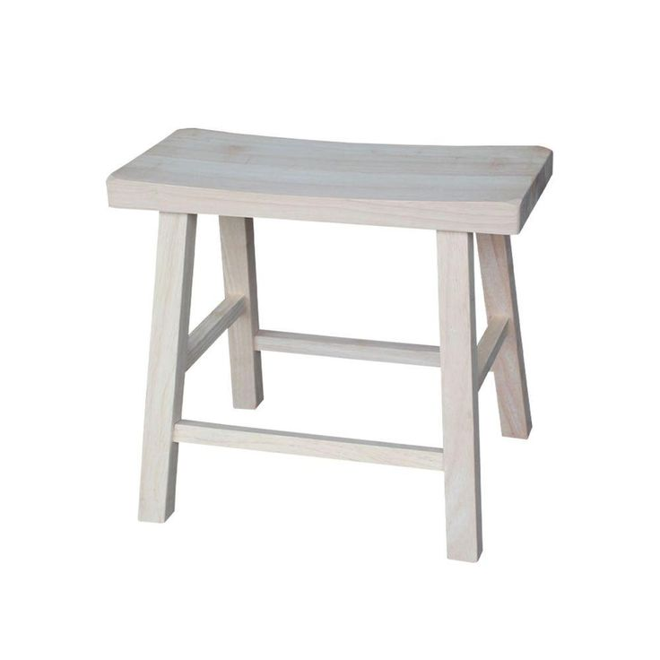 International Concepts 18 in. Unfinished Wood Bar Stool-1S-681 - The Home Depot