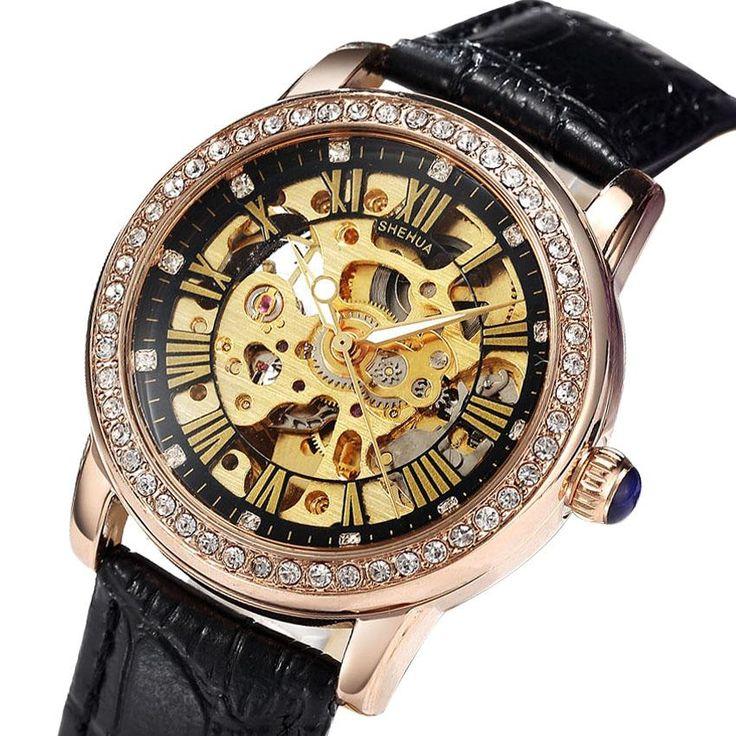 Women's Mechanical Watches Brand Luxury Automatic Mechanical Skeleton Watches for Women Diamond Ladies Watches Relogio Faminino