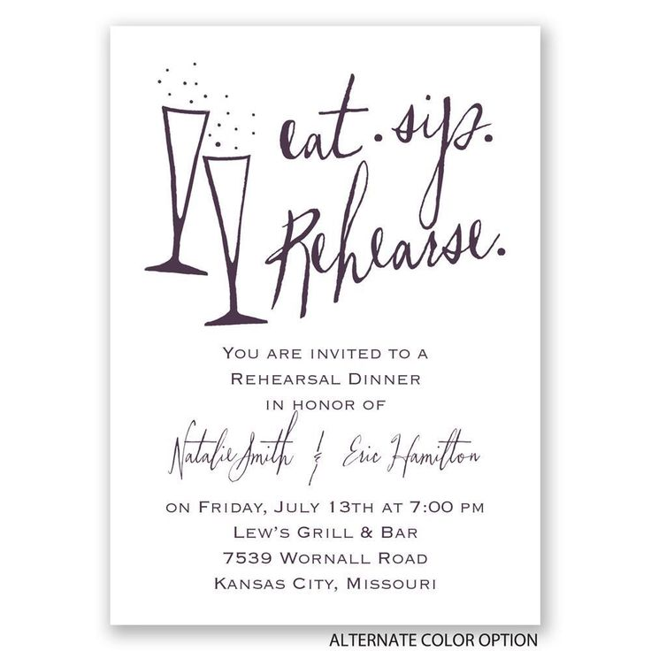 Best  Rehearsal Dinner Invitations Ideas On   Dinner