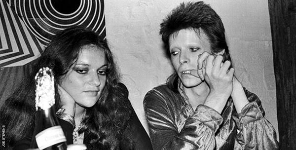 David Bowie with one-time girlfriend Dana Gillespie