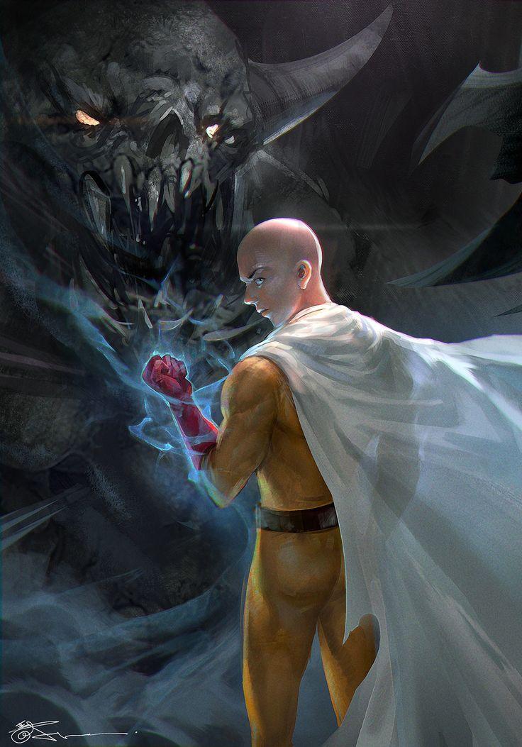 One Punch Man Fan art, jeremy chong on ArtStation at https://www.artstation.com/artwork/ndoe9