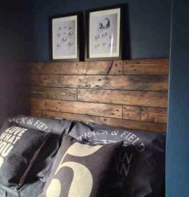 Stiffkey blue with reclaimed wood